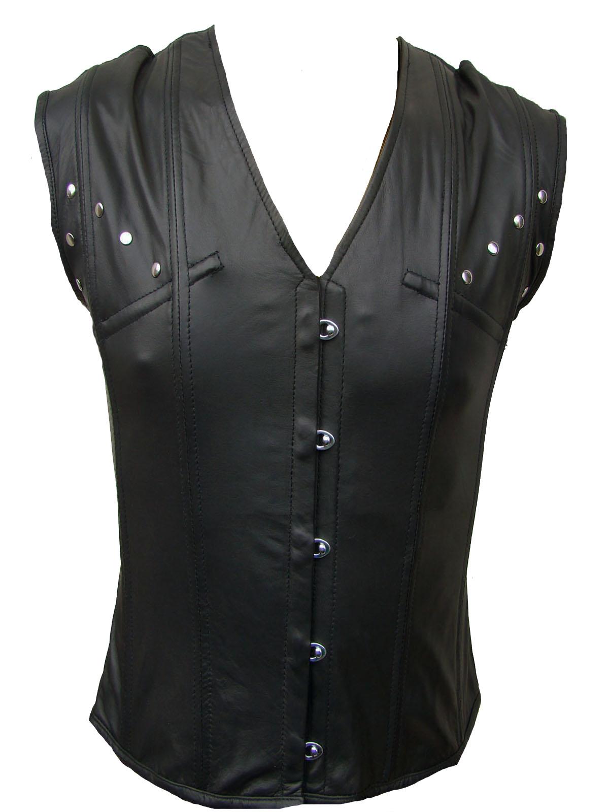 korsett weste echt leder jacke kutte korsett leather vest. Black Bedroom Furniture Sets. Home Design Ideas